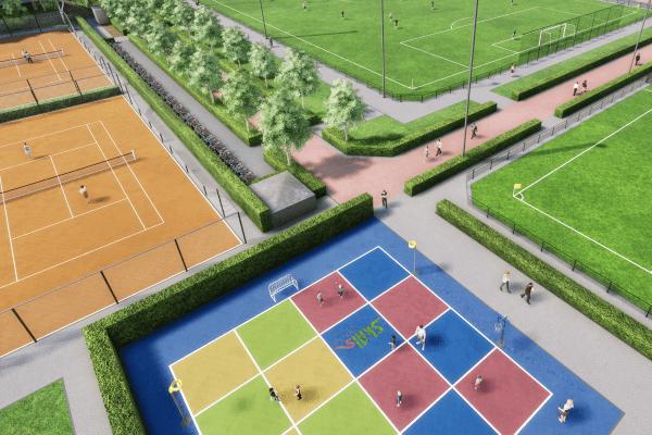Gedragen inrichting sportpark De Boekhorst